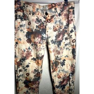 NY & Co floral lightweight pants jeans flowers